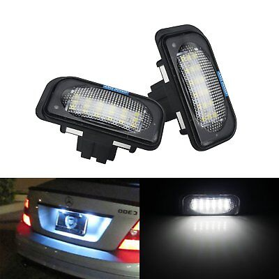 2 Mercedes Benz C Class W203 Saloon LED License Number Plate Light Lamp No Error
