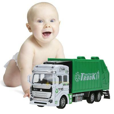 1:48 Pull Back Power Metal Alloy Car Model Kids Garbage Truck Toy Children Gift