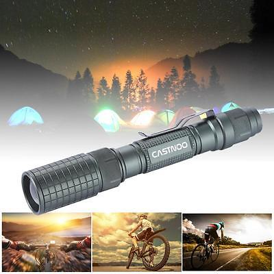 8000LM Zoomable CREE XM-L T6 LED 18650 Flashlight Focus Torch Lamp Light AD