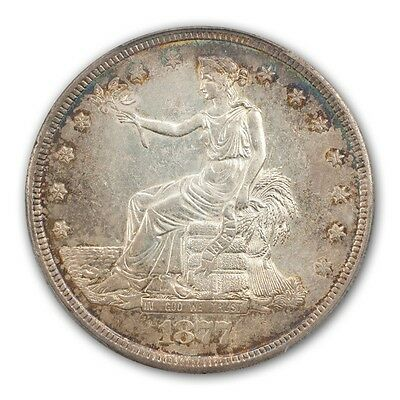 1877-S T$1 Trade Dollar PCGS MS61 (CAC)