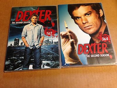 Lot of 2 Dexter DVD's The Complete Second Season Disc 1, 2 ,3,+ 4 DVD 4-Disc Set
