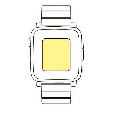 Martin Fields Overlay Plus Screen Protector (Pebble Time Steel)