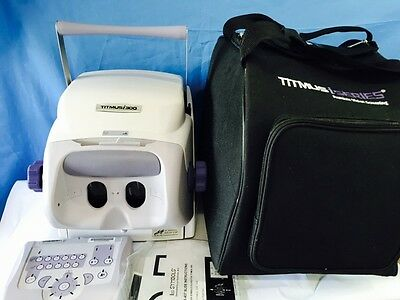 Titmus i300 Portable Vision Tester with slides and case Used