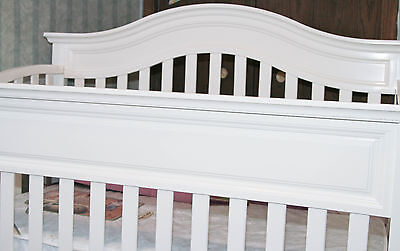 Tori Off White 4-in-1 Convertible Solid Wood Crib Toddler Bed -MADE IN THE USA