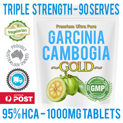 NEW 95% HCA Garcinia Cambogia 3000mg 90 Tablets - Faster absorption vs capsules