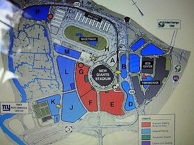 2018 New York Giants BLUE Full Season Parking Pass - All 8 Games at MetLife