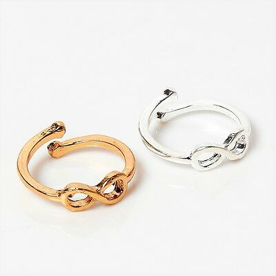 NEW Infinity Toe Ring Adjustable Silver Gold Foot Jewelry Beach Women Fashion