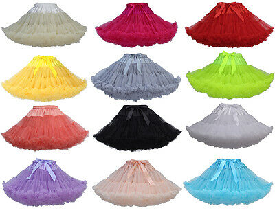 Women's Fluffy Tutu Skirt Pettiskirt Princess Ballet Party Dancewear Christmas