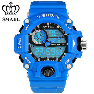 SMAEL Men Watches LED Digital Sport Watch For Students Boys Outdoor Wristwatches