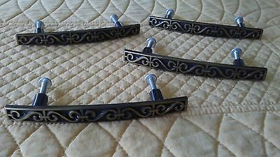 Vintage NOS Black & Copper Plated Drawer Pulls Cabinet Door Handles Renaissance