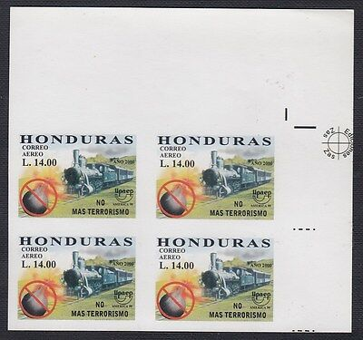 Upaep Honduras 1999 1031 Variety Without perforated Train Bl4