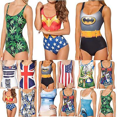 Printed One Piece Bathers Comic & Cartoon  Swim Suits, Swimmers- Assorted Styles