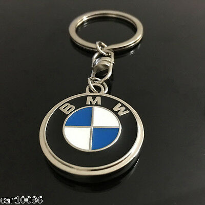 2017 High Quality Single Side Car Logo Key Chain Metal Keychain Key Ring For BMW
