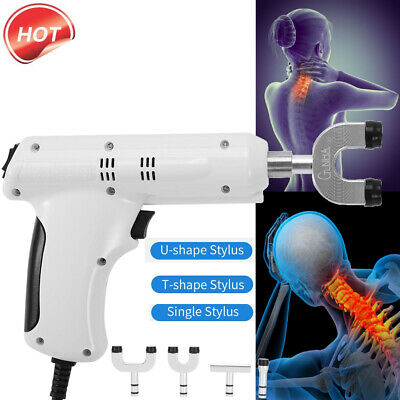 110-220V Professional Chiropractic Tool Electric Spine Adjusting Corrector+4Head
