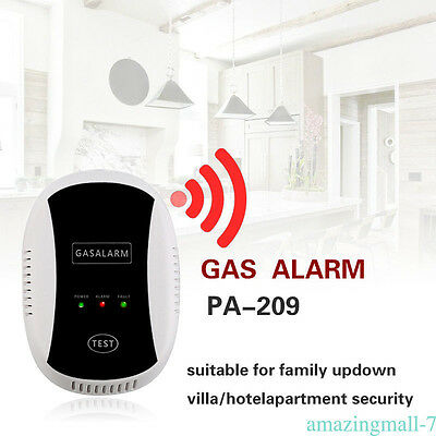 Wireless CO Natural Gas Sensor Leak Detector Alarm High Sensitive Home Kitchen A
