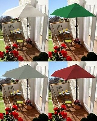 2.7m 3m half round parasol umbrella balcony sun shade metal Balcony Umbrella
