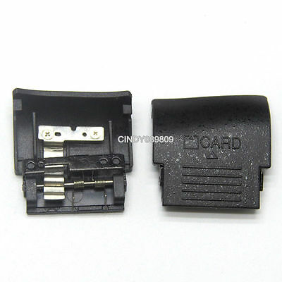 New SD Memory Card Chamber Door Cover For Nikon D90 With Spring and Metal Plate