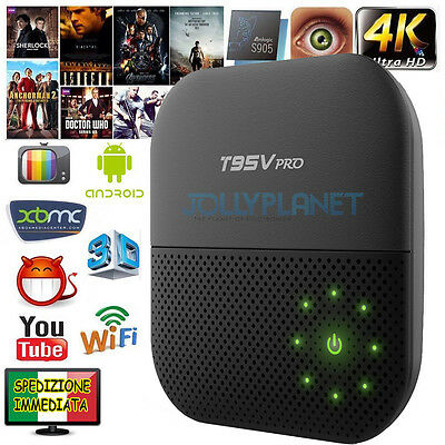 T95V PRO ANDROID 6.0 OCTA CORE 2GHz BOX 32GB 3GB S912 HD IPTV 4K DUAL WIFI