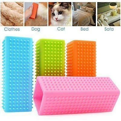 Dog Cat Pet Hair Remover Clothes Carpet Fur Lint Shedding Brush Cleaner NEW LH