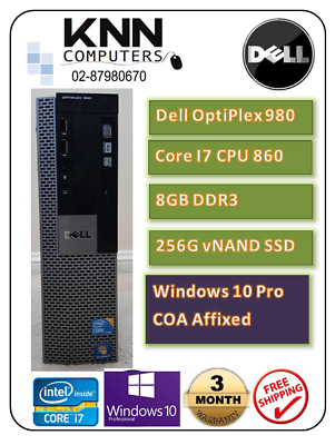 Dell Optiplex 980 SFF Core i7 860 2.8 GHz 8GB 256G vNAND SSD W10Pro- SALE! SALE!