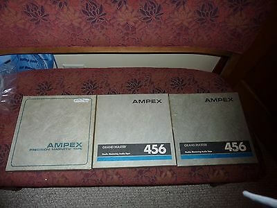 Ampex 456 tape & reels 1/2'' LOT OF 3