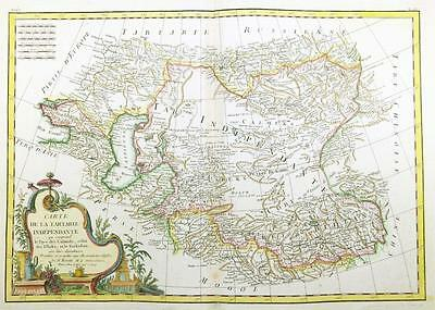 1771 Antique Map CENTRAL ASIA INDEPENDANT TARTARY China Russia India by Bonne