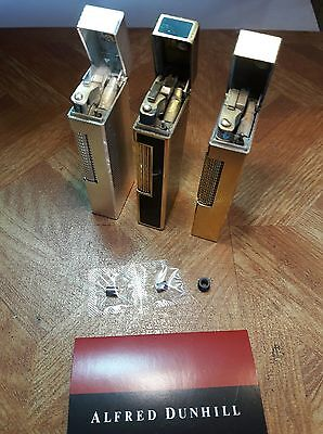 New flint wheel & 2 flints for Dunhill rollagas lighters, rollalite & Dunhill 70