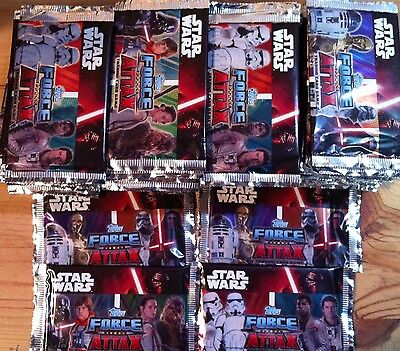 LOT 80 Boosters Trading Card STAR WARS Force Attack