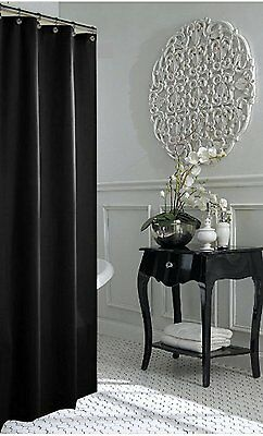 CLEARANCE Jet Black Shower Curtain 1m W New Free Shipping