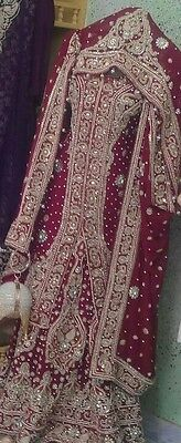 Red and Gold Pakistani Bridal Lengha