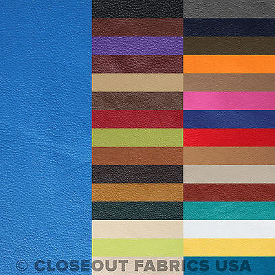 Vinyl Fabric - Faux Leather Pleather Fabric - Upholstery Fabric - 31 Colors