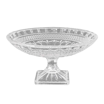 New Clear Glass Parisian Footed Plate Bowl 16.5Cm H