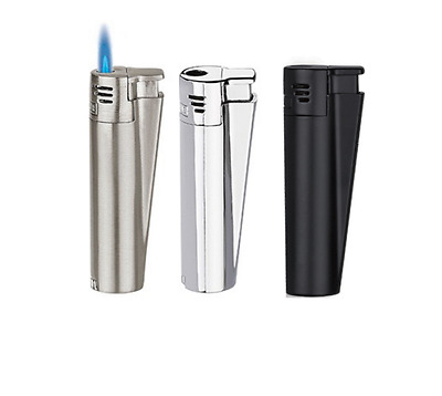 Clipper Jet Flame Metal Lighter with Chrome Finish With Gift Tin Box new clipper