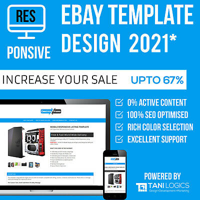 eBay Mobile Responsive Template Auction Listing Professional  2017 Design Html