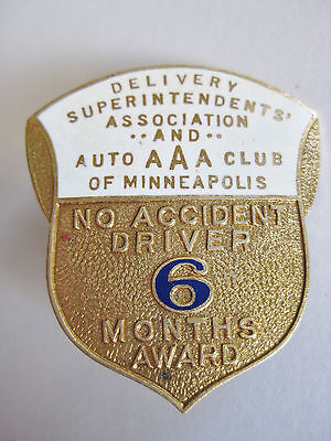 Vtg Pin Badge Delivery Superintendents' Association & AAA Auto Club of Minnesota