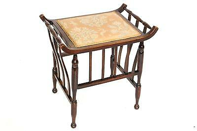 Antique Beech Piano Stool or Dressing Table Chair Seat - FREE DELIVERY -