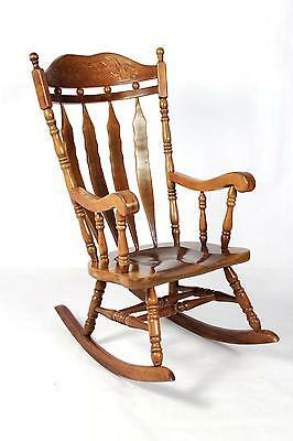 Vintage Antique Style Farmhouse Country Rocking Chair