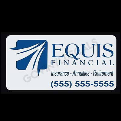 """12"""" x 24"""" Equis Financial Car Magnets Magnetic Auto Car Truck Sign"""
