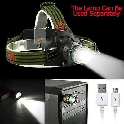 8000 LM CREE Q5 LED Rechargeable USB Headlamp Headlight Flashlight Torch Lamp AD