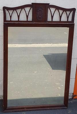 GORGEOUS Antique Solid Wood Wall Mirror - BEAUTIFUL CARVED DETAIL - VGC - 19th C