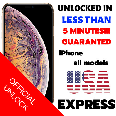 Premium FACTORY UNLOCK SERVICE AT&T CODE ATT for IPhone 5 5S 6 6s SE 7 8 X XR XS