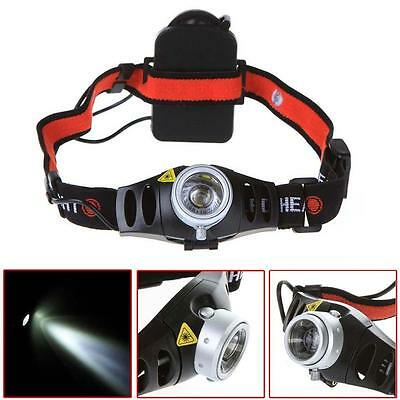 8000 LM CREE Q5 LED Ultra Bright Zoomable Flashlight Headlamp Headlight AAA AD