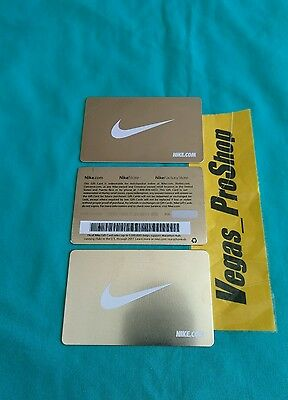 Rare Solid Metal Limited Nike Reloadable Titanium Silver Reusable Gift Card New