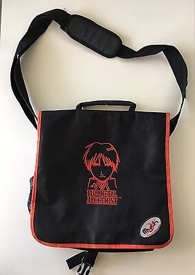 Fullmetal Alchemist New without Tags Messenger Bag Red Black incl. Pins Buttons