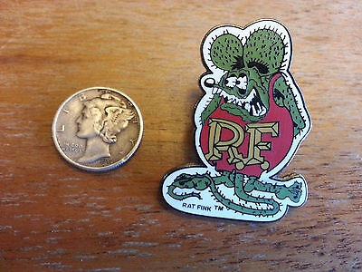 VINTAGE GREEN RAT FINK  NOVELTY HAT PIN  LAPEL PIN  ED BIG DADDY  ROTH Hot-Rod