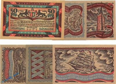 6 x Notgeld Oldenburg , Handelskammer , emergency money , M/G 1017.1 ,  kfr./unc