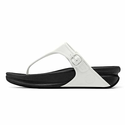 5d8f78ec00c4 Fitflop Size 2 3 5 6 7 Superjelly Urban White Black Tone Up Toning Flip  Flops