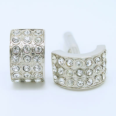Silver Arch Wedding Cufflinks with Stones