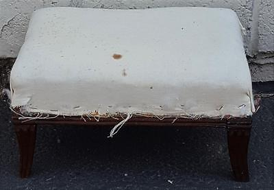 Wonderful Small Size Antique Foot Stool - NEEDS TLC - UPHOLSTERY - CUTE STOOL