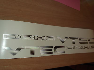 Civic DOHC Vtec REPLACEMENT Side decals stickers CRX  SiR VTi